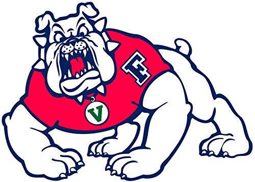 Crazy Discount Fresno State Bulldogs NCAA Vinyl Sticker Decal Outside Inside Using for Laptops Water Bottles Cars Trucks Bumpers Walls, 3