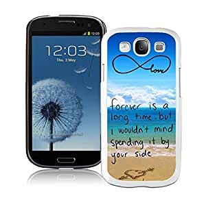 Samsung Galaxy S3 Case I9300 Durable Soft Silicone TPU Element White Cell Phone Case Cover Protector Pop infinity anchor with love and sandy beach design