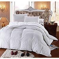 Confort alternativo del edredón de plumas de ganso tamaño king de 300 hilos del Royal Hotel, edredón sobrellenado, inserto de edredón 100% algodón Shell - 750FP - 86Oz - Blanco Sólido, King