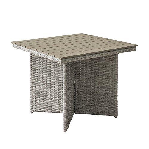 CORLIVING PCL-200-T Brisbane Patio Dining Table, Blend Grey (Brisbane Tables Outdoor)