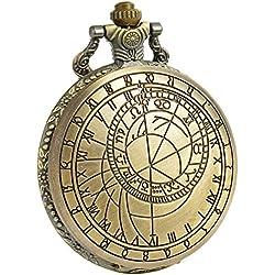 SIBOSUN Doctor Who Pocket Watch Dr. Who Men Quartz Chain Bronze Case White Dial Antique Full Hunter