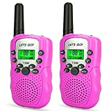 DIMY Girls Games Age 3-12, Stocking Stuffer Fillers Walkie Talkies for Kids Girls Toys for 3-12 Year Old Girls Christmas for Girls Age 3-12 Pink DJ86