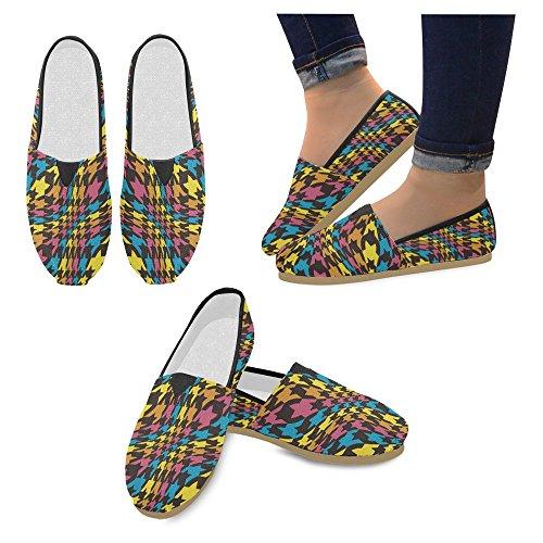 Mocassini Da Donna Di Interestprint Classico Su Tela Casual Slip On Fashion Shoes Sneakers Flat Multi 11