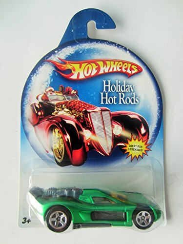 (Hot Wheels Mattel 2008 Holiday Hot Rods Series 1:64 Scale Die Cast Metal Car M3089 - Metallic Green Spine Buster)