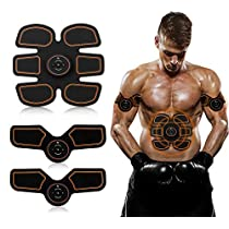 ABS Muscle Stimulator, EMS Abdominal Muscle Toner, Ultimate ABS Muscle Stimulator Belt Electronic Rechargeable Muscle Trainer, Smart Wearable Home Abs Trainer Men Women Smart Body Building by AY