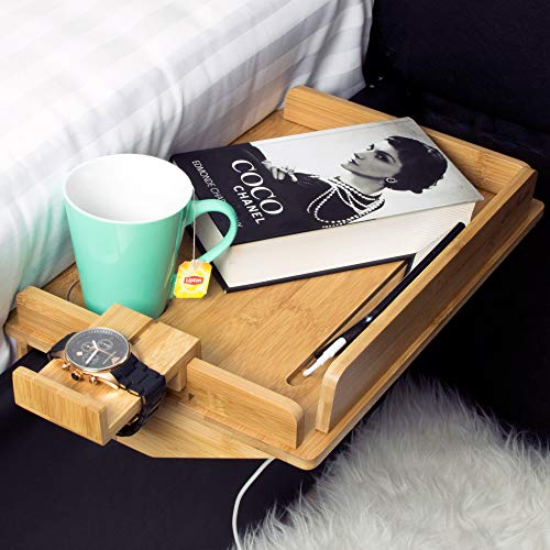 Bedside Shelf Natural Bamboo 10 X 15 Large Size Ergonomic