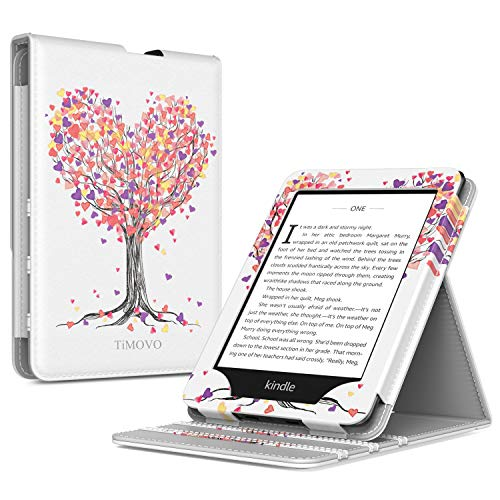 TiMOVO Case for Kindle Paperwhite E-Reader (10th Generation, 2018 Release) - Vertical Multi-Viewing Flip Stand Cover with Auto Sleep/Wake for Amazon Kindle Paperwhite, Love Tree