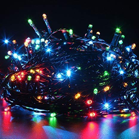 PESCA Diwali Decorative LED String Lights Serial Bulbs – Multicolour 13 Meter (13 Meter)