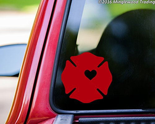 (Minglewood Trading Fireman Wife Firefighter RED Vinyl Decal Sticker 4