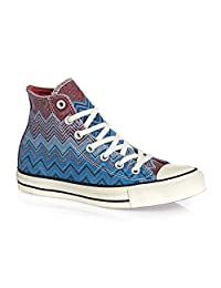Converse Missoni Chuck Taylor Hi Men Round Toe Canvas Blue Sneakers