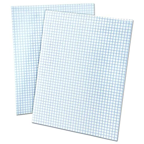 Ampad 8 1/2 x 11 Inches White Quad Pad, 4 Square Inch, 50 Sheets, 1 Each (22-030C) - Graph Pad