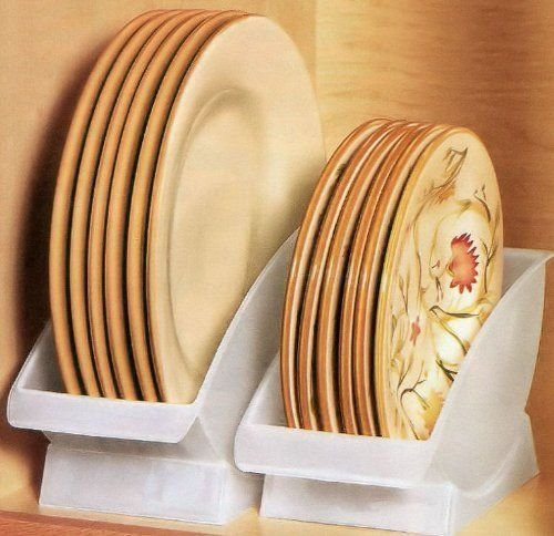 Dish Cradle. Conveniently Store Your Dishes and Plates vertical on a Shelf. Great for Sink Side Drying. Dinner Plate china holder. JUMBL L4911