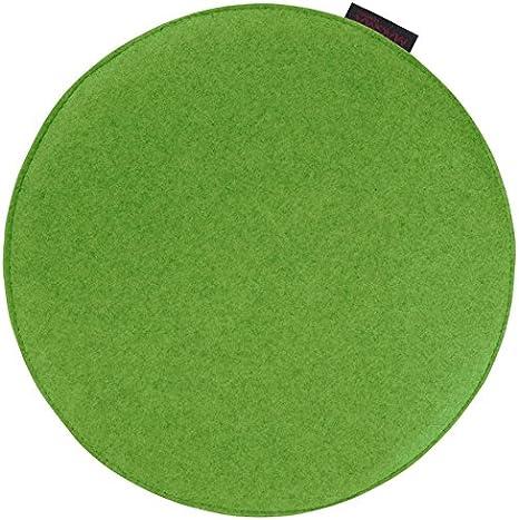 Stuhlkissen AVARO Filz rund grün 35x2cm