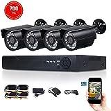 FidgetFidget 4CH CCTV DVR NVR 960H HDMI Camera Outdoor IR Night Vision Home Security System