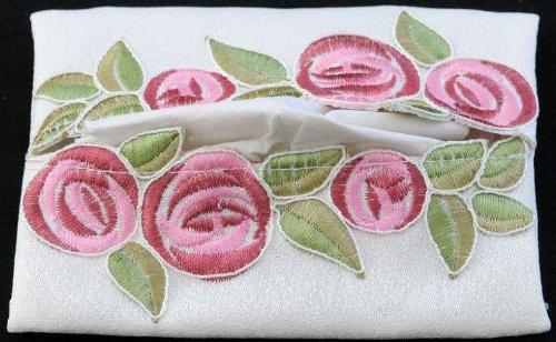 Pocket Tissue Holder in a Rennie Mack Pink Rose Design