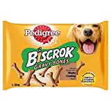Pedigree Biscrok Gravy Bones Dog Biscuits 1.5kg (PACK OF 6)