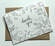 8 Hand Illustrated Thank You Cards - Dogwood Blossoms