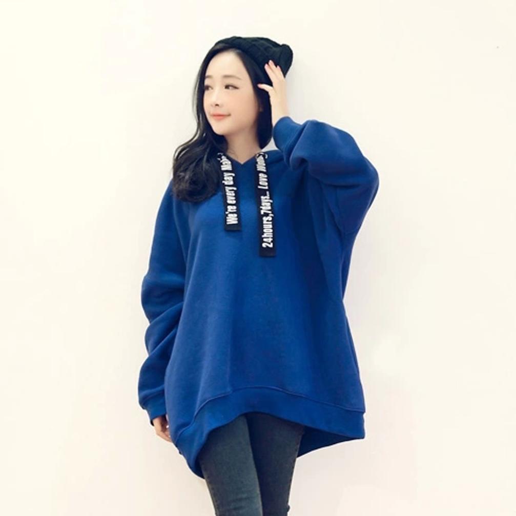 Fashion Womens Winter Autumn Casual Hoodie Letter Print Sweatshirts (L2)