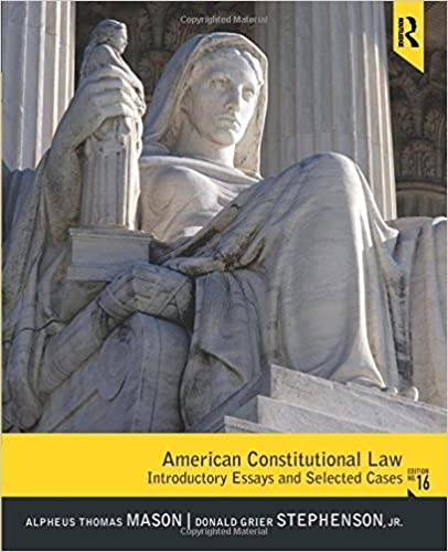 Book American Constitutional Law: Introductory Essays and Selected Cases by Alpheus Thomas Mason (2011-02-09)