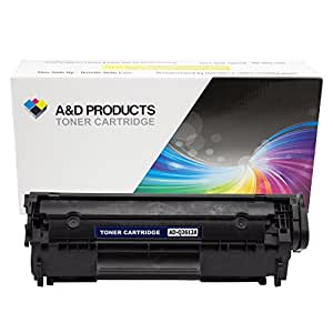A&D Products Compatible Replacement for HP Q2612A Toner Cartridge HP 12A Black (2,000 Page Yield) for use with LaserJet 1010, LaserJet 1012, LaserJet 1015, LaserJet 1018, LaserJet 1020, LaserJet 1022, LaserJet 1022 n, LaserJet 1022 nw, LaserJet 3020, LaserJet 3030, LaserJet 3050, LaserJet 3052, LaserJet 3055, LaserJet 3015, LaserJet 3020, LaserJet 3030, LaserJet 3050, LaserJet 3052, LaserJet 3055, LaserJet M1005, LaserJet M1319f MFP