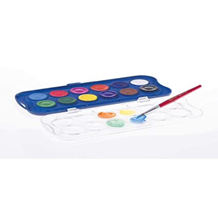 Amazon.com: ESTUCHE PLASTICO 12 ACUARELAS GIOTTO COLORES ...