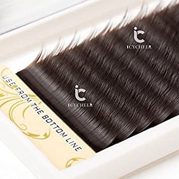9814a1d3a0a Amazon.com : ICYCHEER 7-13mm Mix In One Tray Brown Mink Individual Eyelashes  Extension Eye Lashes Box (0.07C, 7.8.9mm) : Beauty
