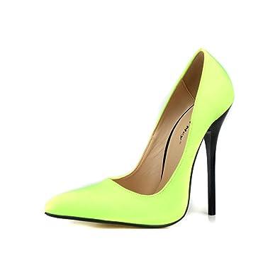 e611814c7b4e no branded Women Super-High Heel Pump Platform Yellow Shoes Boots Sandals