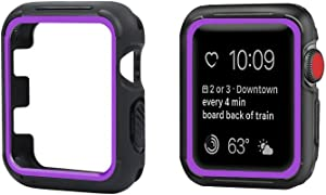 top4cus Environmental Soft Flexible TPU Anti-Scratch Lightweight Protective 40mm Iwatch Case Compatible Apple Watch Series 5 Series 4 Series 3 Series 2 Series 1 Sport Style - Purple