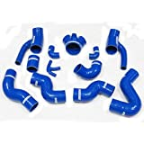Autobahn88 1997-2002 Audi S4 B5 A6 B5 RS4 2.7T Bi-turbo Quattro Silicone Intercooler Hose Kit -Red -Without Clamp Set