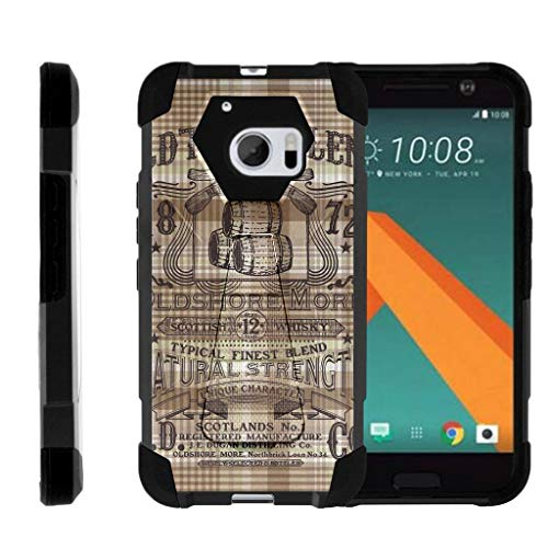 TurtleArmor | Compatible for HTC 10 Case | One M10 Case | HTC 10 Lifestyle [Dynamic Shell] Hard Hybrid Cover Absorber Resistant Soft Silicone Kickstand Shell - Scotch Whiskey