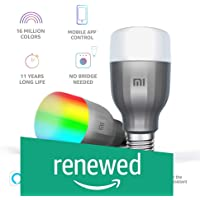 (Renewed) Mi LED Wi-Fi 10W Smart Bulb (White and Color, E27 Base), Compatible with Amazon Alexa and Google Assistant