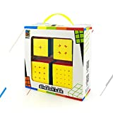 x pack - Speed Cube Puzzle Pack | 2x2 3x3 4x4 5x5 Stickerless Cube Set | 4 Pieces Magic Cubes Collection | Puzzle Toys Brain Teaser Gifts