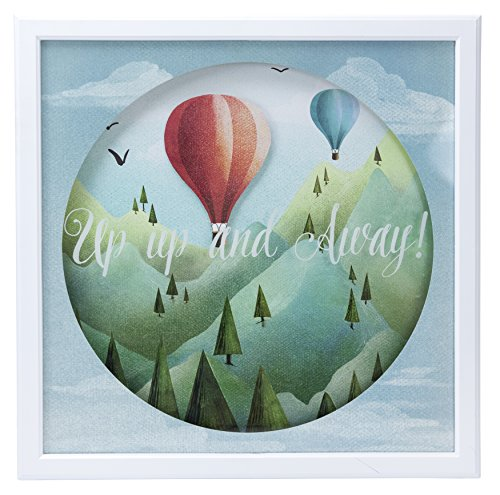 Framed Shadow Box (Up Up and Away Shadow Box Wall Art, 14X14