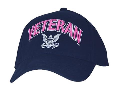 Amazon com: U S  Navy Veteran Ladies Cap  Navy Blue: Clothing