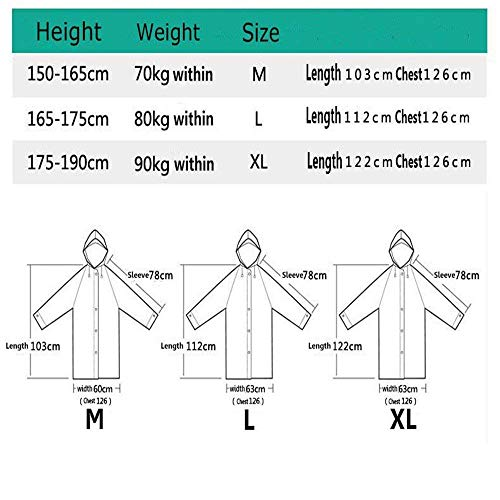 Rosa Eva Rainwear Riutilizzabile Adelina Motorcycle Emergency Portable Raincoat Abbigliamento Womens Hoody Mens 8wA8fqB
