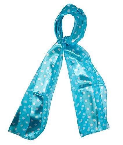 Light Blue Polka Dot Fashion Scarves