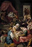 Oil Painting 'Leonardo Jusepe El Nacimiento De La Virgen Ca. 1642', 20 x 30 inch / 51 x 76 cm , on High Definition HD canvas prints is for Gifts And Dining Room, Kids Room And Powder Room Decoration