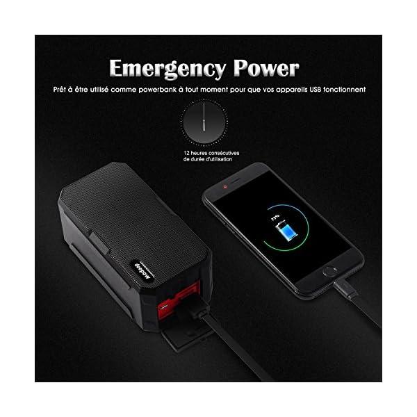 Enceinte Bluetooth Haut Parleur Bluetooth Waterproof Sans Fil Portable - Deepow 10W Enceinte Bluetooth Speaker Puissante étanche IP67 3000mAh Compatible Android iPhone TV et Autres Appareils Bluetooth 5