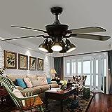 Huston Fan Modern Reversible Ceiling Fan Light with 5 Rotatable Light Set
