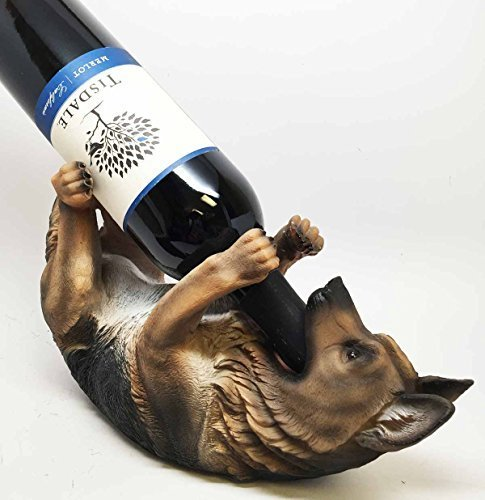 Holder Kitchen Wine Decor German Shepherd Dog Statue Figurine Bottle H2D9bYWEIe