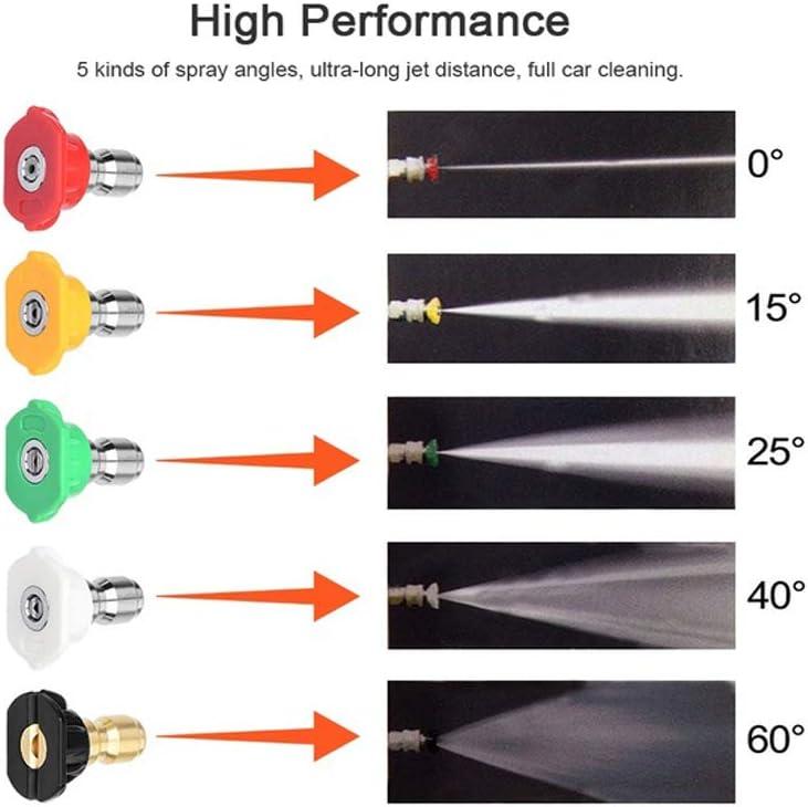 Lancia di Ricambio con ugelli Spray Attacco rapido 1//4 Set di prolunga per idropulitrice xnbnsj