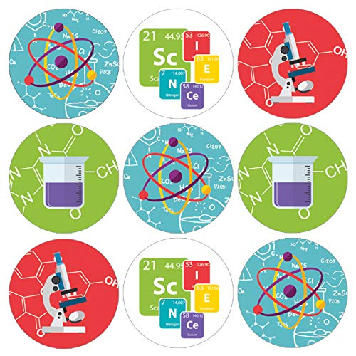 Science Party Favor Labels | 198 Stickers
