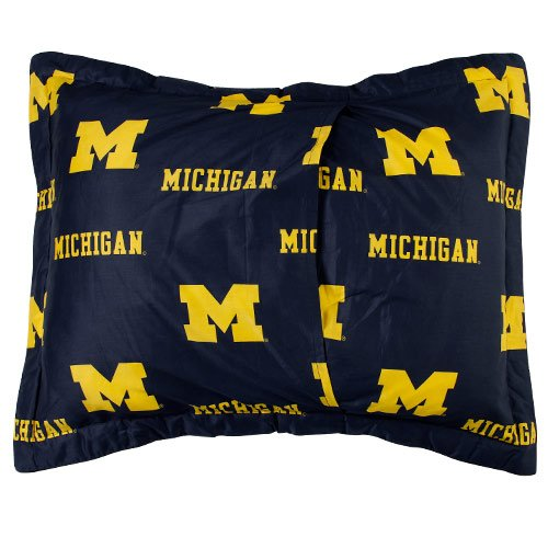 College Covers Michigan Wolverines Printed Pillow Sham by College Covers (Image #1)