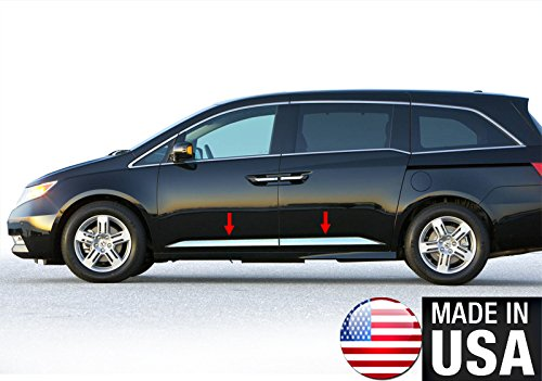 Made in USA! Works with 2011-2017 Honda Odyssey Lower Accent Body Side Molding Trim 2 1/4'' 4PC