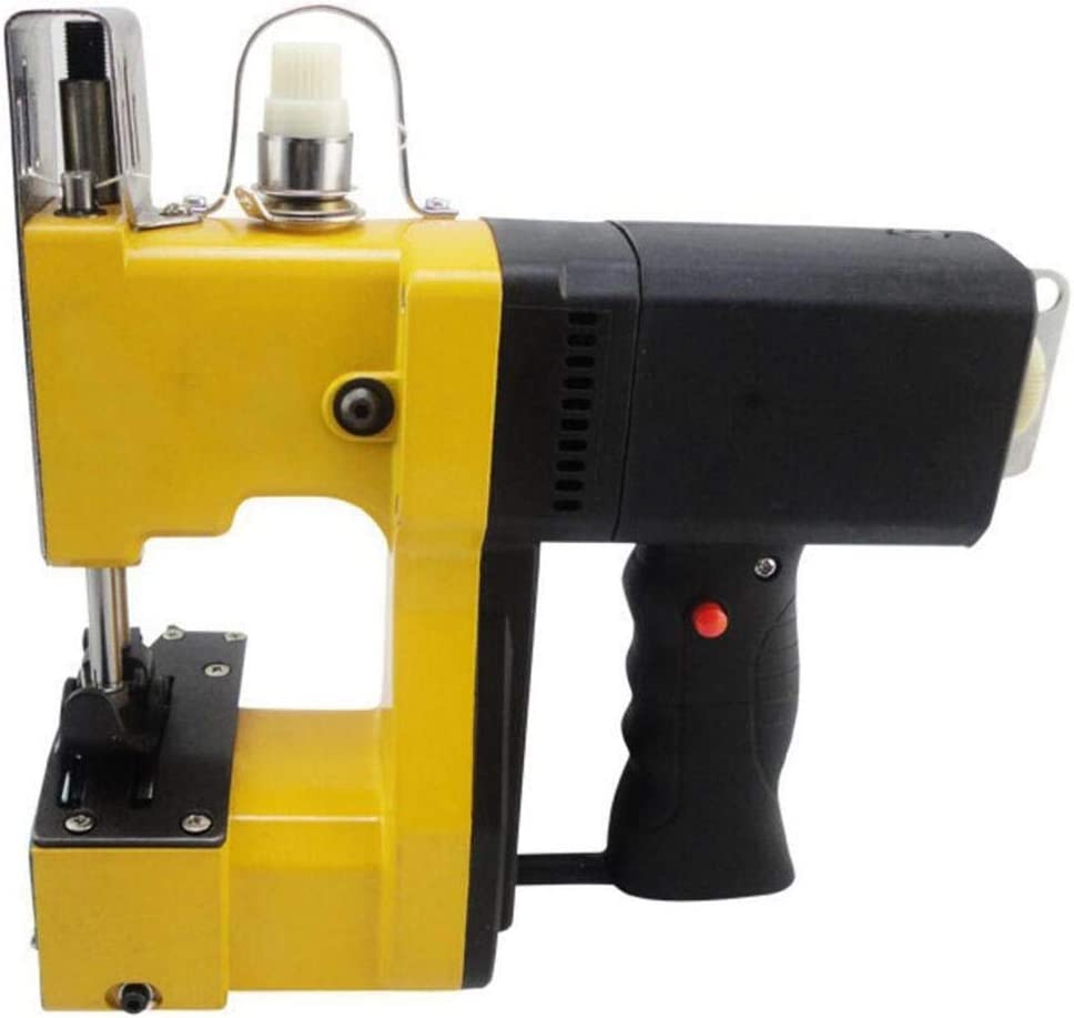 XGHW Máquina de Cierre de Bolsas Máquina de Coser portátil Máquina de Coser portátil Máquina de Coser de Punto de Sellado de Bolsas Cerradas para Saco de Piel de Serpiente Tejida (Amarillo):