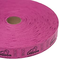 Purple Liquor Ticket Roll by Century Novelty