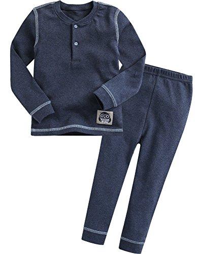 Navy Blue Boys Pajamas - 6