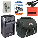 Starter Accessory Kit for Canon PowerShot G1 X, G3-X, G15, G16, SX40 HS, SX50 HS, SX60 HS Digital Camera - Includes NB10L Battery & Charger + Deluxe Carrying Case + Mini HDMI-HDMI Cable +More!!