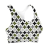 Geometric Cross Sports Bra