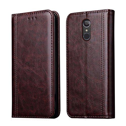 LG Stylo 4 Case, LG Stylo 4 Plus/LG Stylus 4/LG Q Stylus/Q Stylus+/Q Stylus α case,RUIHUI Leather Wallet Folding Flip Case Cover Card Slots,Kickstand Magnetic Closure (2-Coffee)
